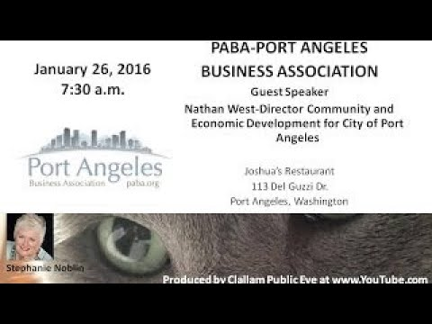 2017 01 26 Nathan West updates projects City ofPort Angeles