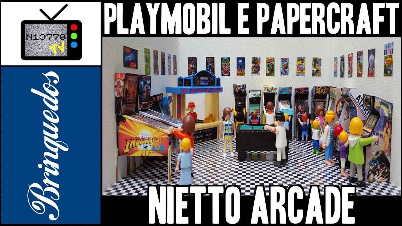 Papercraft PLAYMOBIL + PAPERCRAFT = NIETTO ARCADE - 06.12.15 - N13770 TV