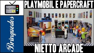 PLAYMOBIL + PAPERCRAFT = NIETTO ARCADE - 06.12.15 - N13770 TV