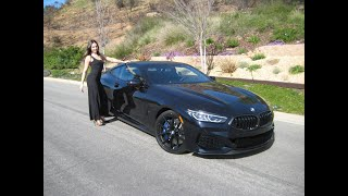2019 BMW M850i Carbon Black Exhaust Sound 20 Black M Wheels BMW Review