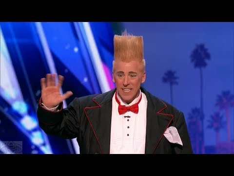 America's Got Talent 2017 Bello Nock Daredevil Clown Just the Intro & Comments S12E04