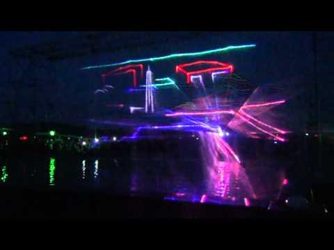 Видео: лазерное шоу на день города Комсомольска-на-Амуре