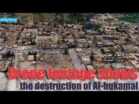 [ Syria ] Drone footage shows the destruction of Albukamal after several days of fighting