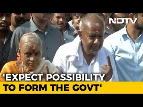 """""""We Have Done Well"""": HD Deve Gowda After Casting Vote In Karnataka"""