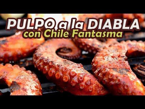 CHILE FANTASMA en un PULPO a la DIABLA !! TOQUE Y SAZÓN