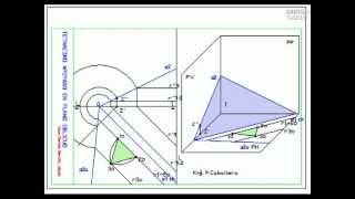 DIBUJA GARLO tetraedro apoyado en plano oblicuo