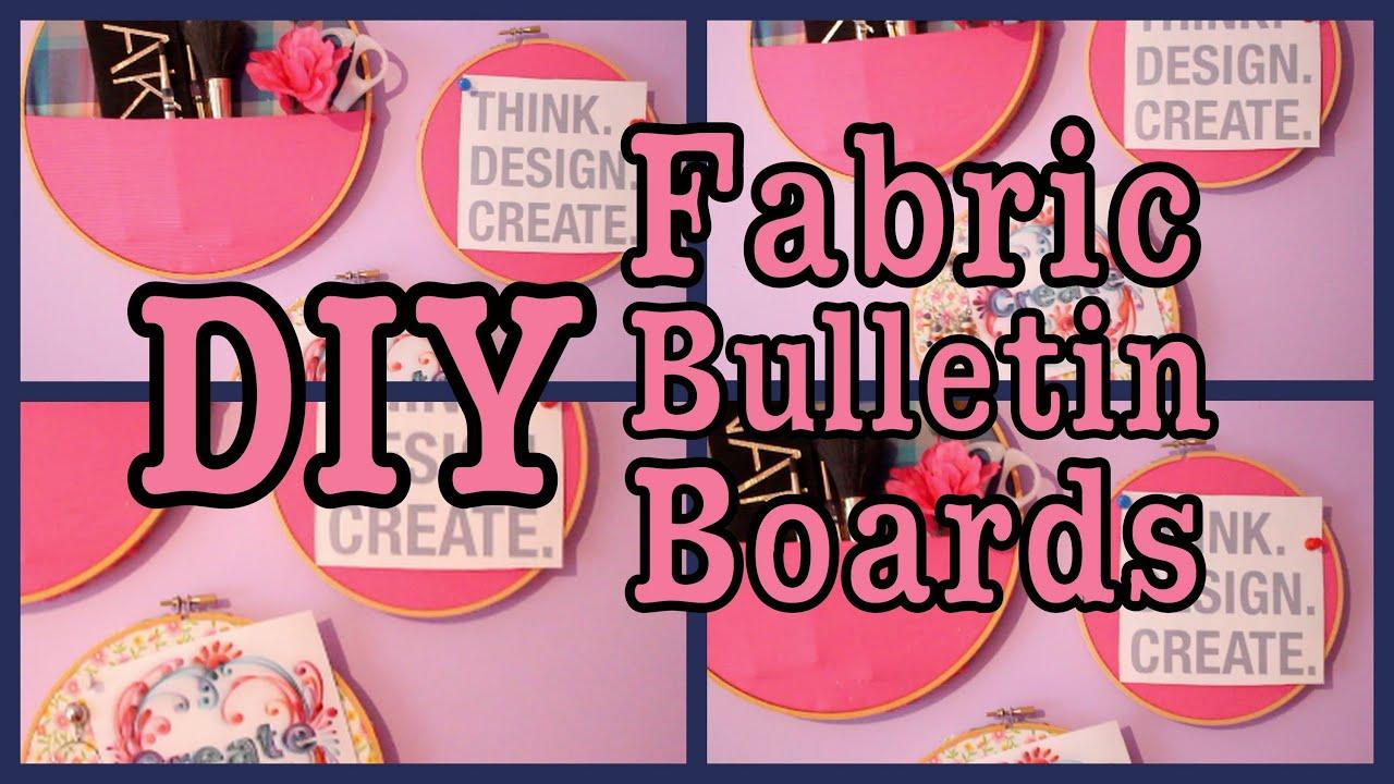 Diy Easy Fabric Bulletin Boards Youtube