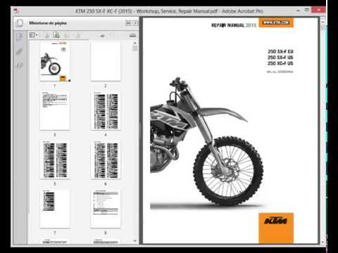 ktm 250 sx f xc f 2015 service manual wiring diagram youtube rh youtube com ktm rfs repair manual KTM ATV