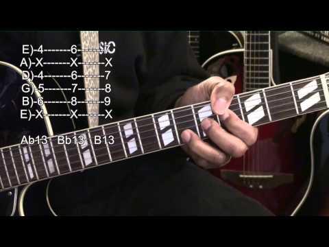 How To Play Girl From IPANEMA Jazz Chord Shapes TABS Tutorial #261 EricBlackmonMusicHD