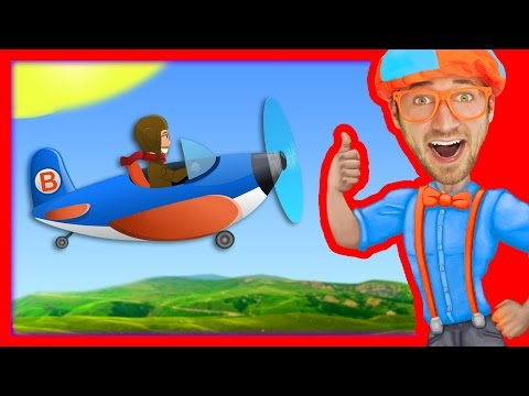 Airplane Song for Kids  Blippi Nursery Rhymes