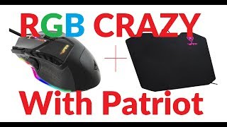 ✅Patriot Viper V570 RGB Blackout Edition Laser Mouse and Mouse pad Review