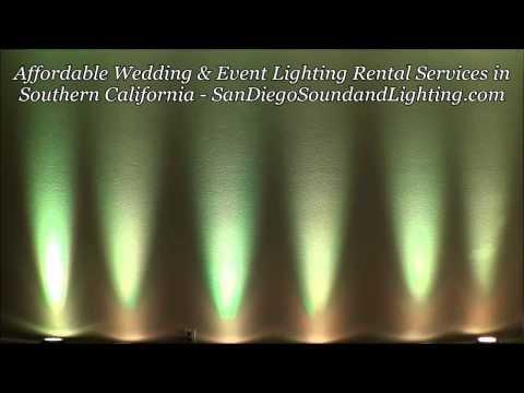 White Uplighting Demo, Wedding Decor, LED Up Lights, Long Beach Lighting Rental, Wall Lights