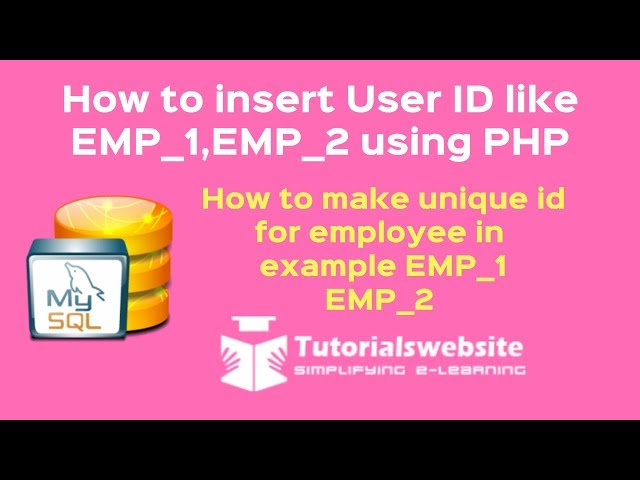 php tutorial in hindi | how to make unique id for employee like EMP_1, EMP_2