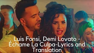 Video Luis Fonsi, Demi Lovato - Échame La Culpa--Lyrics and Translation download MP3, 3GP, MP4, WEBM, AVI, FLV Januari 2018