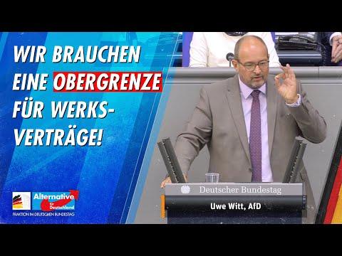 Wir brauchen eine Obergrenze für Werksverträge! - Uwe Witt - AfD-Fraktion