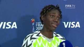Asisat Oshoala – Player of the Match – Nigeria v Korea Republic