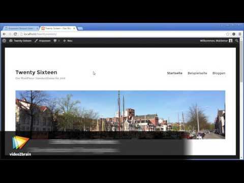 WordPress-Theme für Einsteiger – Twenty Sixteen Tutorial: Ein Hauptmenü hinzufügen |video2brain.com