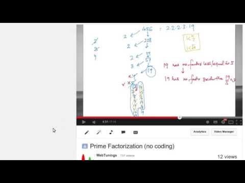 JavaScript Tutorial - Prime Factorization