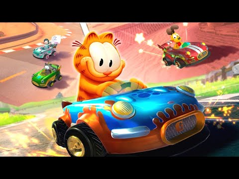 Garfield Kart - Furious Racing Gameplay - Fun Video Games for Kids HD #1 |