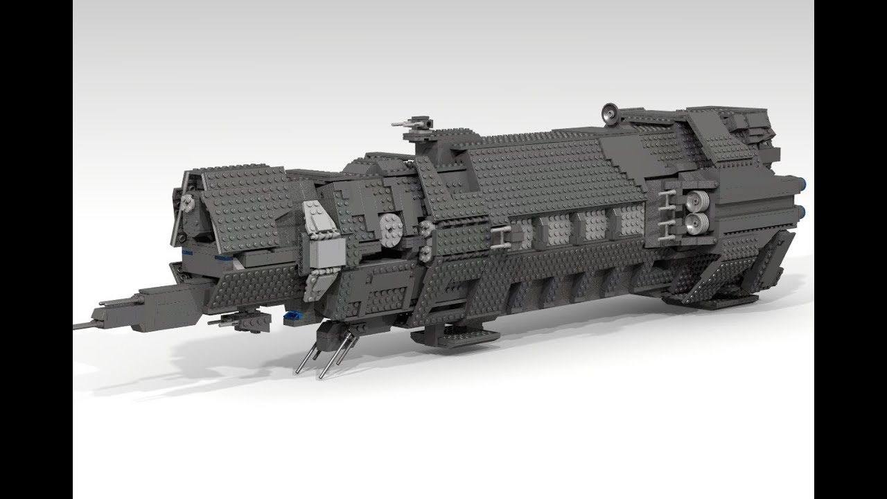 HALO Pillar of Autumn Halcyon Class Cruiser: A LEGO