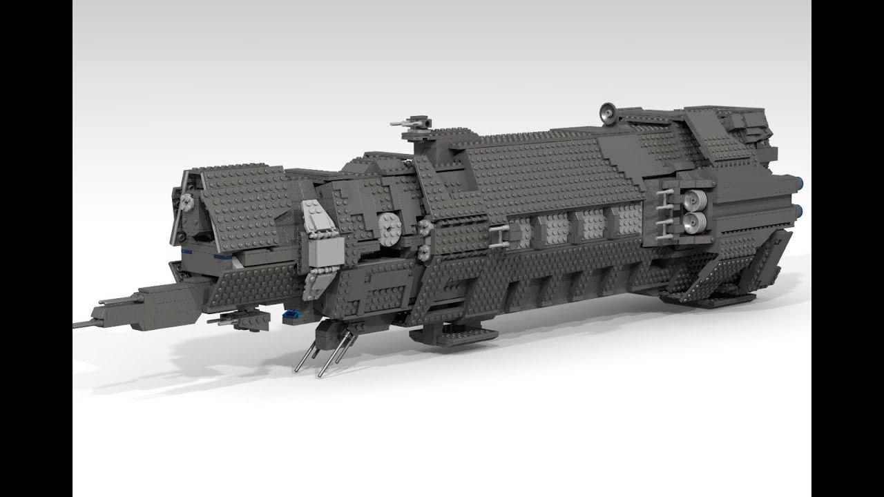 Lego Unsc Halcyon Class Cruiser Pillar Of Autumn Youtube