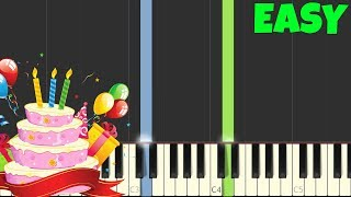 Happy Birthday [Easy Piano Tutorial] (Synthesia)