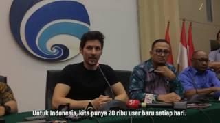 Durov in Jakarta, Indonesia (August 1st, 2017)