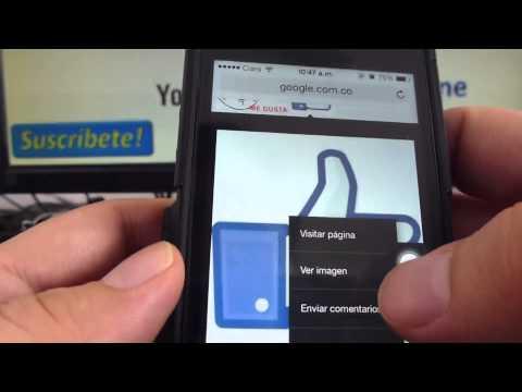 Como Poner Comentarios Con Imagenes Para Facebook IPhone 5S 5C 5 4 IOS 7 Español Channeliphone