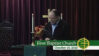 First Baptist Church // 10-25-20