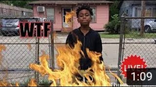 Badkid trey shows off gun after funny mike flys in the new BadKid's 😨🔫