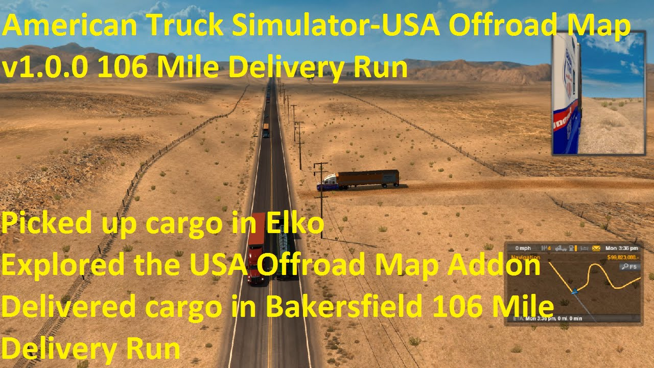 Run Usa Map.American Truck Simulator Usa Offroad Map V1 0 0 106 Mile Delivery
