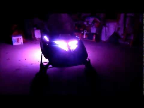 2011.12.30 Skidoo Touring LE Snowmobile Underglow LED Multi-Color Remote Kit install