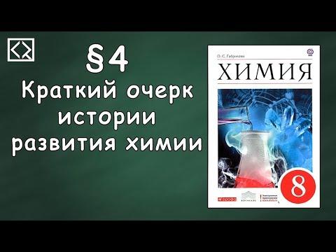 Видеоурок по химии 8 класс краткий очерк истории развития химии