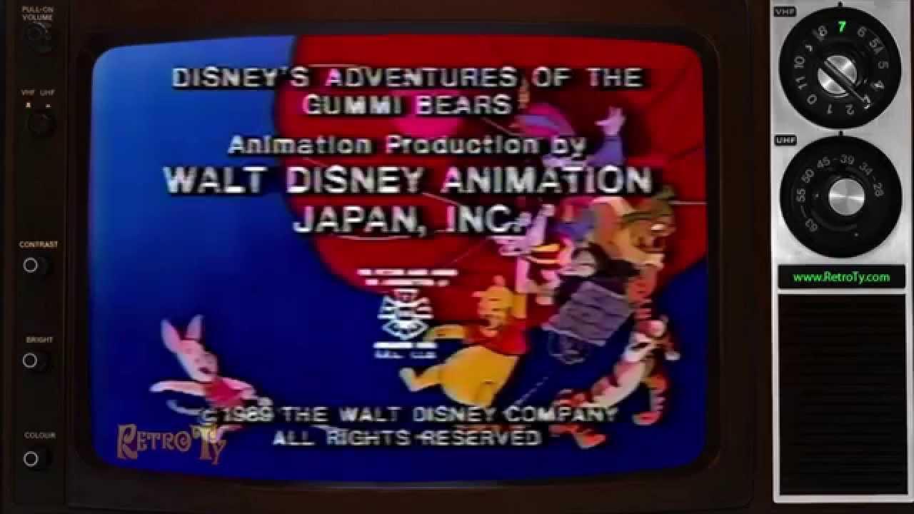 1989 Disney S Gummi Bears Amp Winnie The Pooh Hour