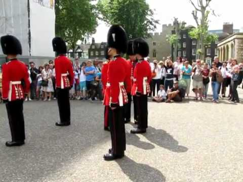 Changing of the guard at the Tower of London