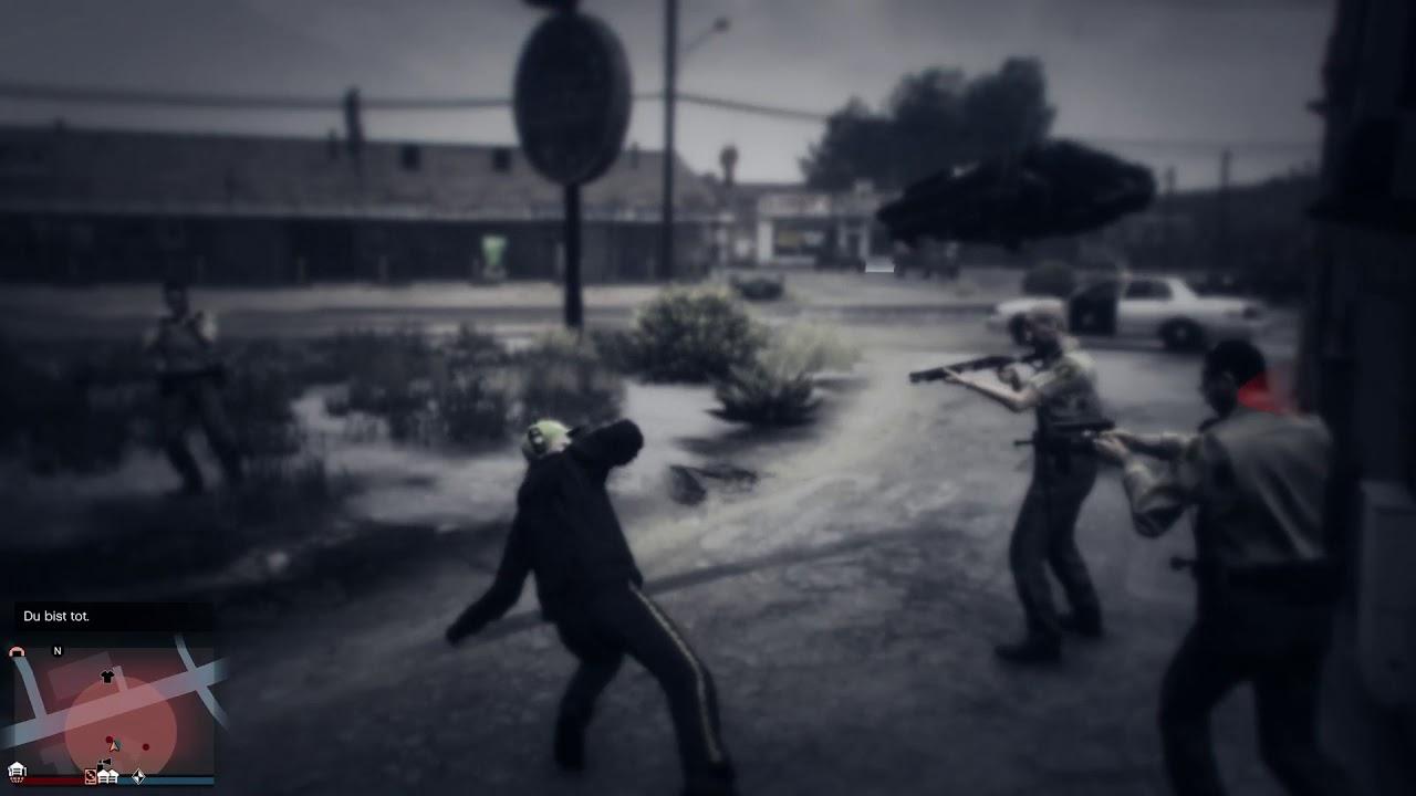 Gta v glitch trevor getting shot in cutscene - YouTube