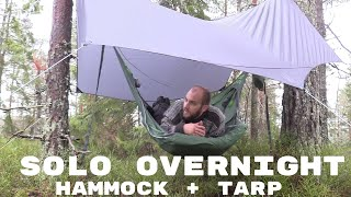 Solo overnight in the woods with a Amok draum 3.0 hammock and tarp