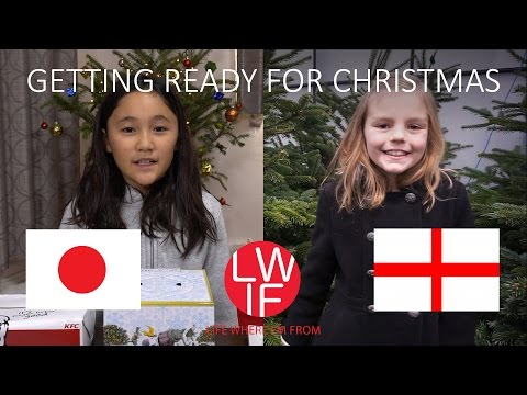 How You Get Ready for Christmas in England and Japan - YouTube