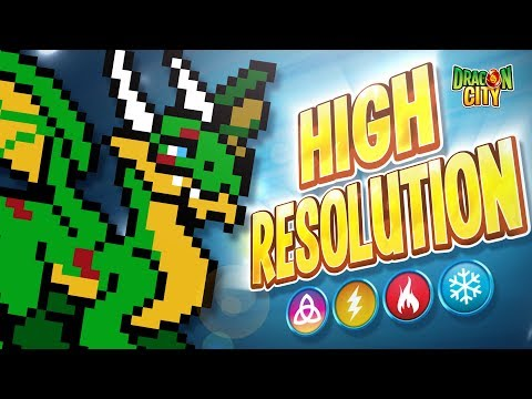 The High Resolution Dragon!! Heroic Race: Pixel Art - Dragon City
