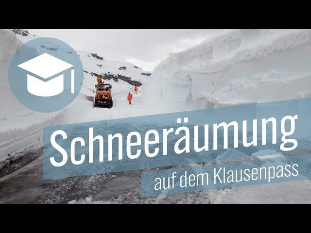 Schneeräumung Klausenpass