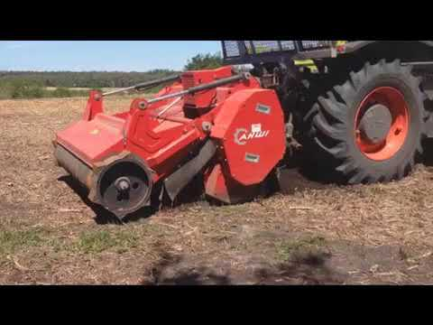 Field Preparation Mulching And Rotovating