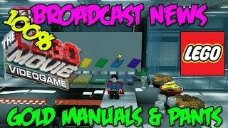 Broadcast News - Gold Manuals & Pants Locations (The Lego Movie Video Game) FREE PLAY