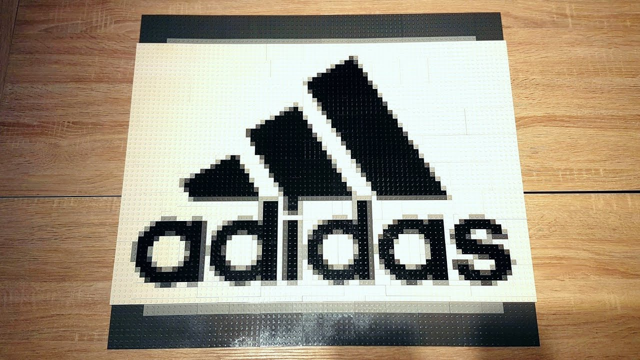 Lego Pixel Art Adidas Logo Youtube