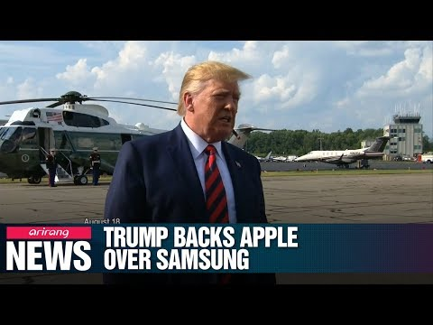 Trump vows again to help Apple against Samsung Electronics