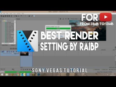 Cara render video format HD dengan ukuran file kecil di sony vegas.