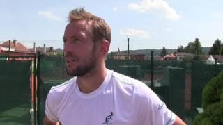 Jan Mertl po prohře ve čtvrtfinále na turnaji Futures v Ústí n. O.