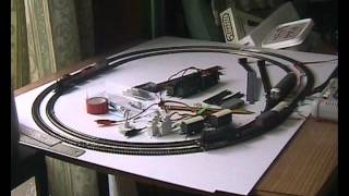 Trial running Graham Farish train set and additional track from Peco.