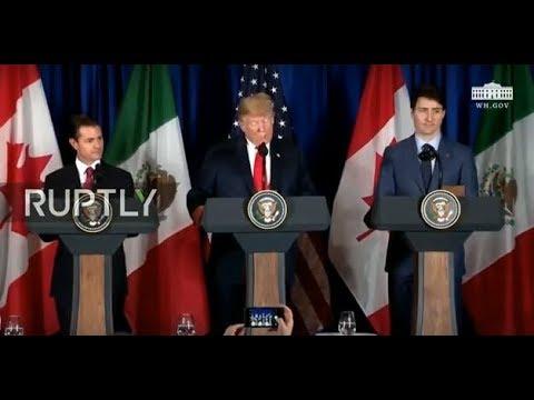 LIVE: Trump, Trudeau and Nieto participate in USMCA signing ceremony