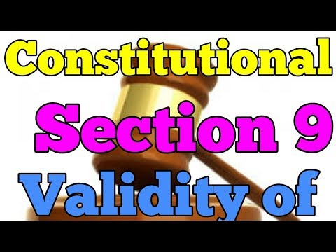 Constitutional validity of section 9|restitution of conjugal