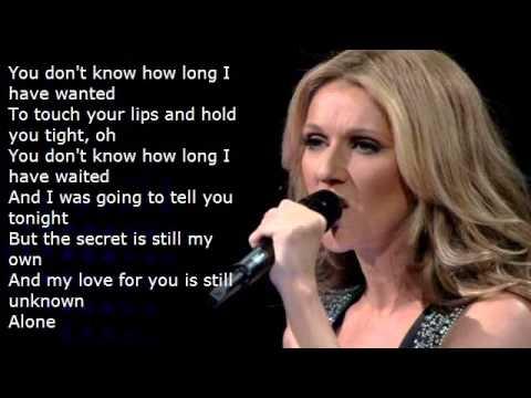 Celine Dion Alone (Lyrics) by Cindy Duran